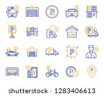 parking line icons. car garage  ... | Shutterstock .eps vector #1283406613