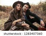 autumn fashion. beautiful... | Shutterstock . vector #1283407360