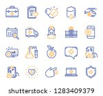 medical rx line icons. hospital ... | Shutterstock .eps vector #1283409379