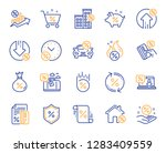 loan line icons. set of... | Shutterstock .eps vector #1283409559