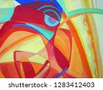 abstract texture. oil  acrylic... | Shutterstock . vector #1283412403