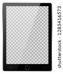 realistic black modern tablet...   Shutterstock .eps vector #1283416573