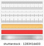 realistic tape rulers and scale ... | Shutterstock .eps vector #1283416603