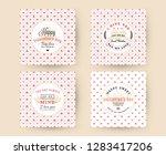set of happy valentines day... | Shutterstock .eps vector #1283417206