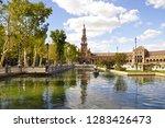 "the plaza de espa a  ""spain... | Shutterstock . vector #1283426473"
