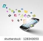 media technology illustration... | Shutterstock . vector #128343053