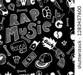 rap music. hip hop doodle... | Shutterstock .eps vector #1283437600