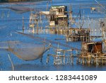 traditional fishing nets  old...   Shutterstock . vector #1283441089