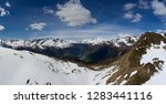 aerial panorama view on snow...   Shutterstock . vector #1283441116