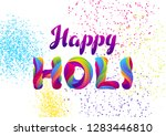 happy holi colorful background. ... | Shutterstock .eps vector #1283446810