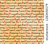 medieval book page with gothic... | Shutterstock .eps vector #1283450179