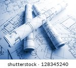 the part of architectural... | Shutterstock . vector #128345240