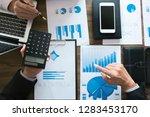 executives consultant work... | Shutterstock . vector #1283453170