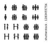 vector set of business people... | Shutterstock .eps vector #1283455756