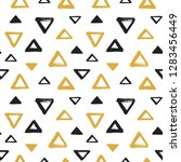 brush drawn various triangles ... | Shutterstock .eps vector #1283456449