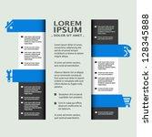 vector web template   banners ... | Shutterstock .eps vector #128345888