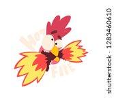 hot fire chicken  hot crazy...   Shutterstock .eps vector #1283460610