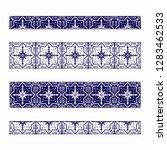 tile border pattern vector... | Shutterstock .eps vector #1283462533