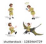 set images of professor in... | Shutterstock . vector #1283464729