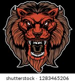 lion head illustration | Shutterstock .eps vector #1283465206