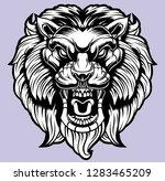 lion head illustration | Shutterstock .eps vector #1283465209