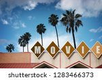 aged and worn vintage movie...   Shutterstock . vector #1283466373