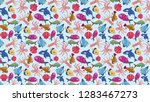 tribal seamless pattern with... | Shutterstock . vector #1283467273