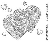 zentangle design for valentines ... | Shutterstock .eps vector #1283472166