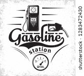 vintage petrol station logo...   Shutterstock .eps vector #1283472430