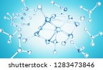 molecule or atom abstract...   Shutterstock . vector #1283473846