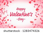 valentine s day card with... | Shutterstock . vector #1283474326