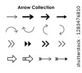 collection of  arrows  design | Shutterstock .eps vector #1283476810