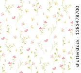 vector floral pattern in doodle ... | Shutterstock .eps vector #1283478700