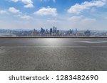panoramic skyline and modern... | Shutterstock . vector #1283482690