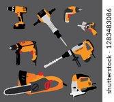 hand tool vector  workshop set  ... | Shutterstock .eps vector #1283483086