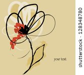 abstract flower design  free...