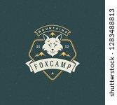 forest camping logo emblem... | Shutterstock .eps vector #1283488813