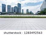 panoramic skyline and modern... | Shutterstock . vector #1283492563