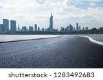 panoramic skyline and modern... | Shutterstock . vector #1283492683