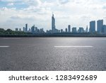 panoramic skyline and modern... | Shutterstock . vector #1283492689