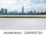panoramic skyline and modern... | Shutterstock . vector #1283492710