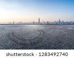 panoramic skyline and modern... | Shutterstock . vector #1283492740