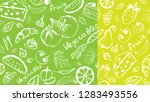 background drawn vegetables and ... | Shutterstock .eps vector #1283493556