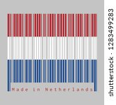 barcode set the color of... | Shutterstock .eps vector #1283499283