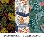 set of three tropical... | Shutterstock .eps vector #1283500240