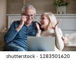 aged spouses spending time... | Shutterstock . vector #1283501620