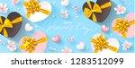 8 march happy women's day... | Shutterstock .eps vector #1283512099
