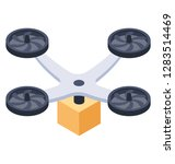 quadcopter   isometric vector... | Shutterstock .eps vector #1283514469