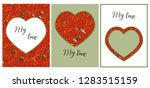 a set of delicate cards for...   Shutterstock .eps vector #1283515159