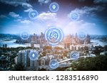 5g network wireless systems and ... | Shutterstock . vector #1283516890